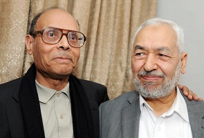 Marzouki et Ghannouchi - photo archive