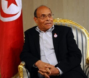 Marzouki interview (photo - yahoo)