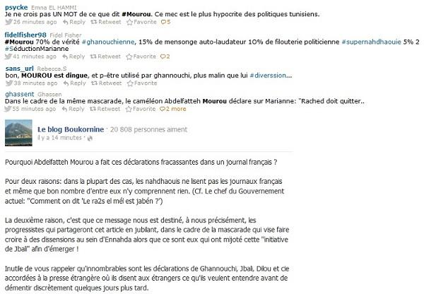 Réactions interview Mourou, Mariane, 15 février 2013