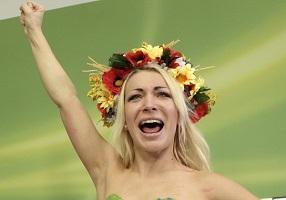 Inna Shevchenko, mars 2012, Vienne - photo (Reuters)