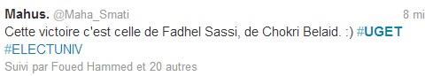 UGET - Tweet 2, 13 mars 2013
