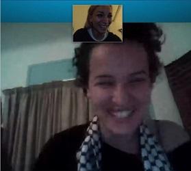Capture d'écran de la conversation entre Amina et Femen via Skype - photo (femen.org)