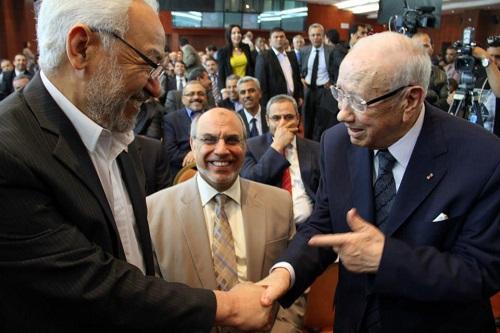 Poignée de mains Ghannouchi-BCE