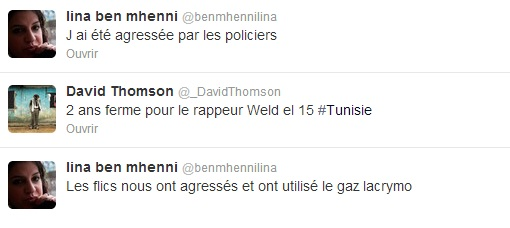 Tweets, agression de Lina Ben Mhenni, proces Weld 15 - 13-06-13