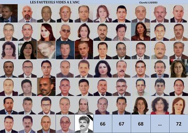 70 députés qui auraient été retirés