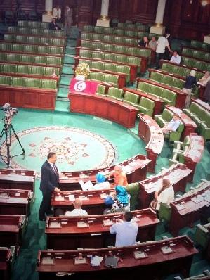 L'ANC lors de de la plénière de ce mardi - Photo Al Bawsala