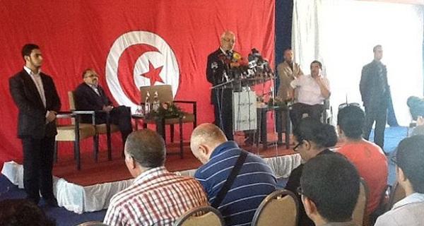 Conf. de presse Rached Ghannouchi 15-08-2013 (Photo - Page FB R. Ghannouchi)