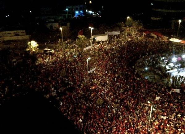 Des dizaines de milliers de participantes à Bardo 13-08-13 (Photo MajdiKhan)