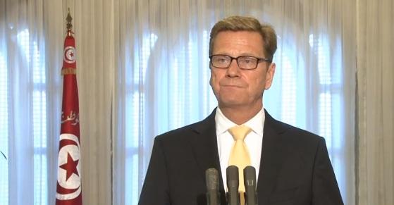 Le ministre des Affaires Etrangères allemand Guido Westerwelle, palais de Carthage, 14-08-13 (photo FB Presidence TN)