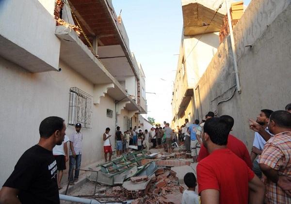 Une explosion à Jedaïda (Manouba) fait une victime, 02-08-13, photo (#Amywebhouse)