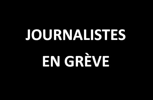 Journalistes en grève