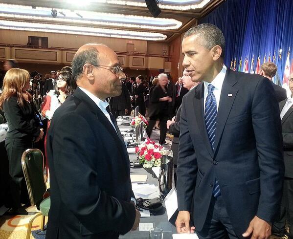 Marzouki-Obama (Crédit photo Papillon)