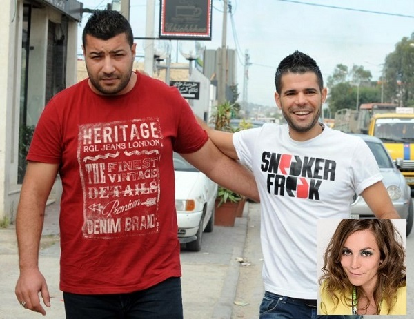 Mustapha Fakhfakh (à gauche) et Aymen Fekih. En médaillon, Hind Meddeb (credit photo AFP)