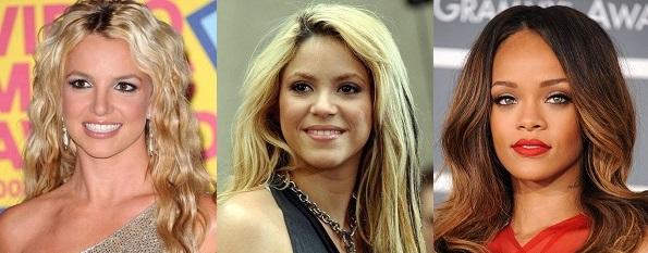 Britney Spears, Shakira, Rihanna