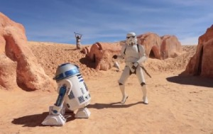 « Happy : we are from Tatooine », un hommage à Star Wars