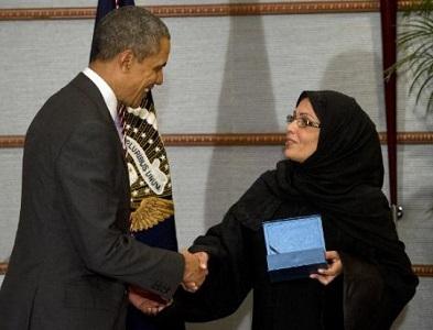 Obama et Mme Muneef (credit photo - AFP)