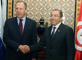 Serguei Lavrov a Tunis (credit photo AFP)