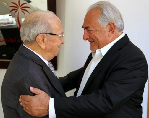 Essebsi - Strauss Kahn