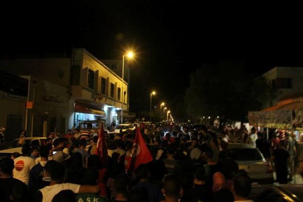 Manifestation à   Kasserine  ce soir 17 juillet 2014  Crédit Photo Hatem Salhi