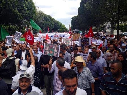 Manifestation en solidarité Palestine Tunis Crédit photo Adnen Chaouach