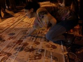 Hand print Tunis