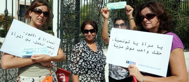 Le droit des femmes au travail et à l'égalité des salaires. Tunisie Crédit photo lepoint