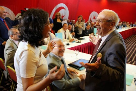 Olfa Youssef et Béji Caid Essebsi