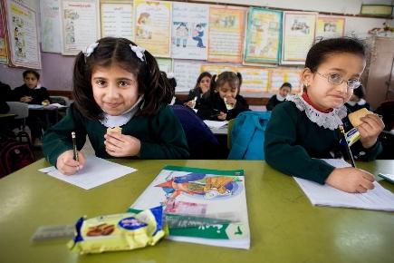 Ecole de filles Ibn Sina à Gaza Mars 2014.  © WFP/Eman Mohammed