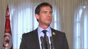 Manuel Valls. Capture d'écran d'une vidéo de la présidence du gouvernement tunisien.