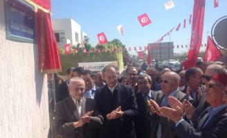 Abdessalem Jrad, ex SG de l'UGTT et Houcine Abassi, SG de l'UGTT après la révolution. 30 avril 2014 Tunis