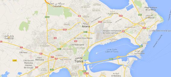 Pour mieux percevoir l'emplacement de Oued Ellil, à la Manouba qui se trouve à 5,5 KM de Tunis