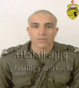 Le caporal Achraf Ben Aziza. Image : Ministère de l'Intérieur