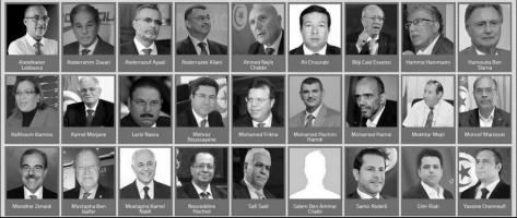 candidats présidentielle. Tunisie.