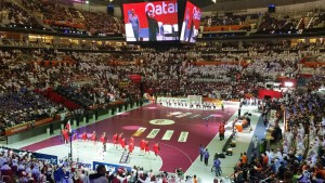 Salle de Lusail, Mondial de Handball au Qatar / Crédit : Selim Rajhi