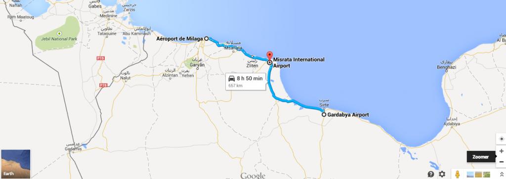 Les trois aéroports libyens