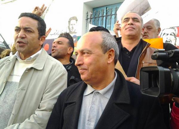 Photo : UGTT 21 janvier 2014. Raouf Chakh