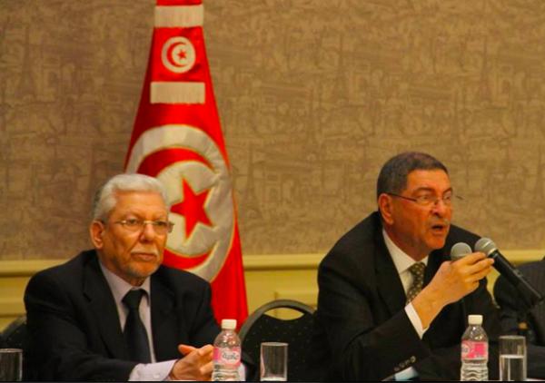 Taieb Baccouche/ Habib Essid/ Photo : Nidaa Tounes