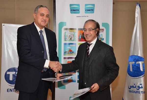 Fadhel Kraiem, Directeur Général adjoint de Tunisie Telecom et Hassine Doghri, Président Directeur Général du Groupe Carte