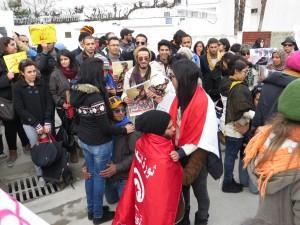 Rassemblement en hommage à Chaima Sabbagh à Tunis