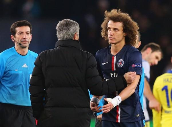 David Luiz et José Mourniho | Crédit : UEFA Champions League