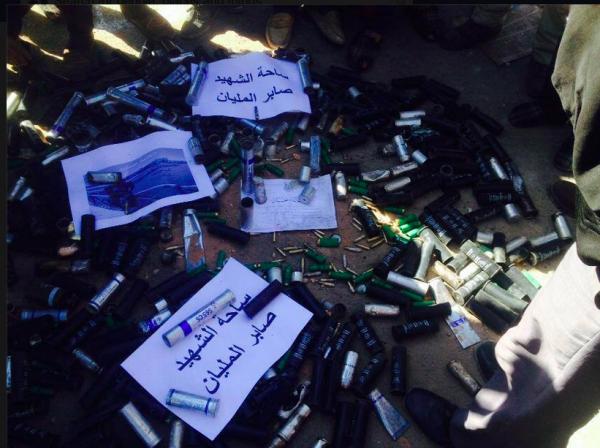"Balles à Dhiba. ""Place du martyr Saber Melyen"". Photo : Dehibat 24. Tatouine"