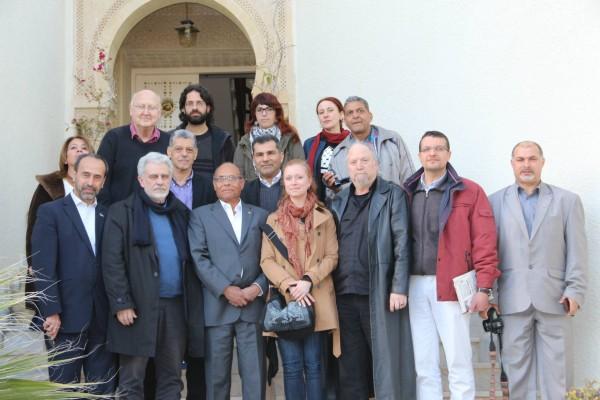"""Moncef Marzouki et le collectif de la """"flottille de la liberté"""""""