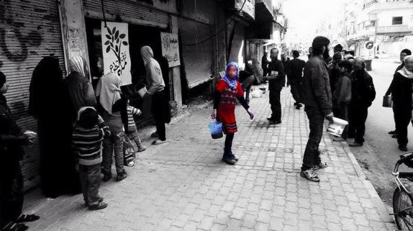 Photo :  حملة مخيم اليرموك