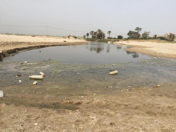 Pollution à la plage d'Ezzahra | Photo : Mohamed Ali Sghaier