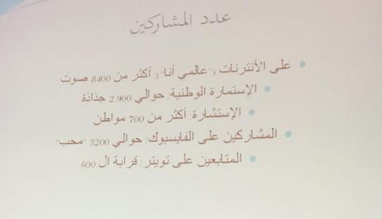 """Présentation du rapport """"La Tunisie que Nous Voulons""""   Photo : Mohamed Ali Sghaier"""
