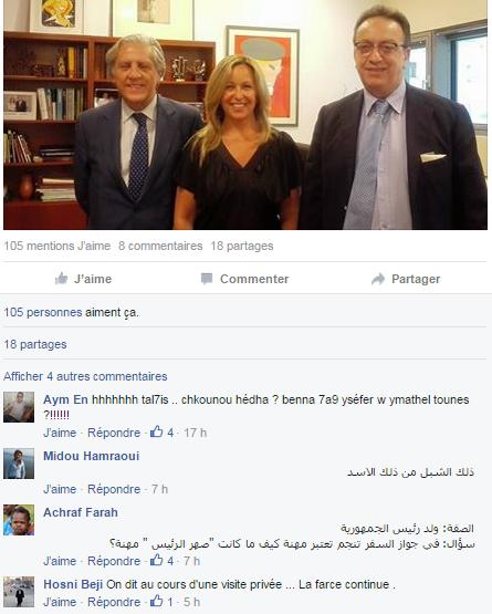 Commentaires des internautes sur la visite de Hafedh Caid Essebsi en Espagne