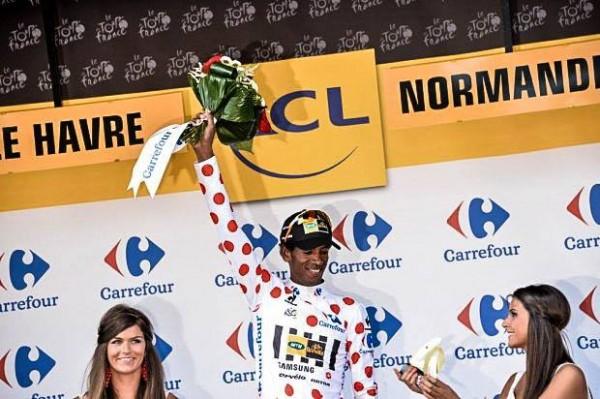 Daniel Teklehaimanot maillot à pois du Tour de France