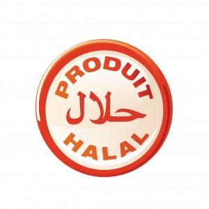 bouton : produit 100% halal