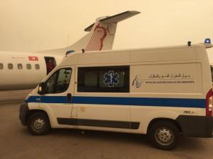 aéroport ambulance