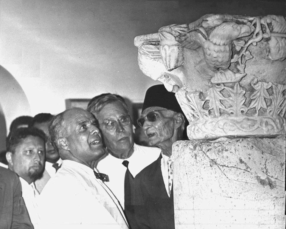 Hassan Hosni Abdewahab avec Bourguiba (Carthage, début des années 1960)